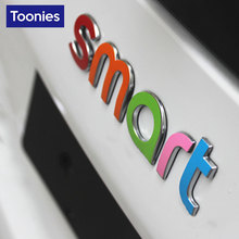 3D Smart Fortwo Car Sticker Auto Logo Tail Cars Stickers Styling Lable Decal Automobiles Film Decoration Accessories 2015 Model