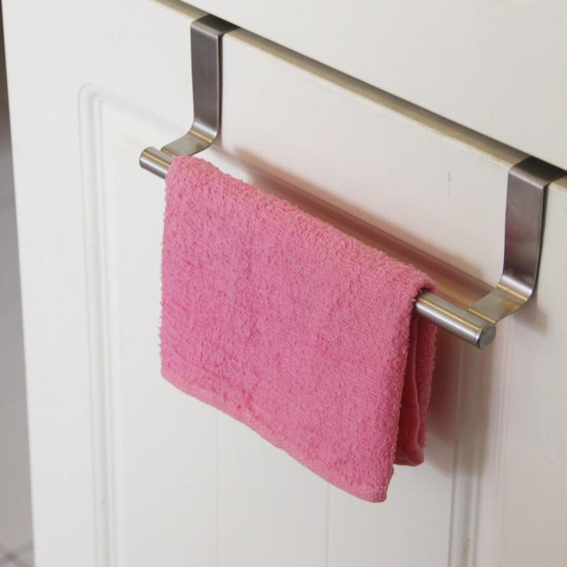 Bathroom cabinet towel bar