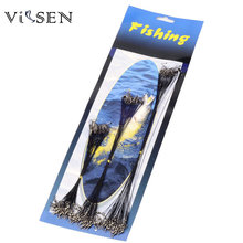 Vissen 72Pcs/bag Fly Fishing lead Line Leader Wire leading line Assortment Sleeve Swivel Stainless Steel Rolling Swivels