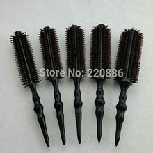 Professional Wooden Hair Brush Boar Bristles Mix Nylon Hairdressing Styling Round Comb Brush GIC-HB568 (5pcs/set) Free Shipping