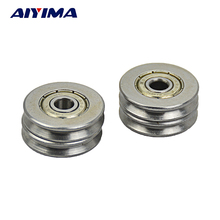 10pcs 5*22*5MM Metal 1.5mm Deep V Groove Guide Pulley Rail Ball Bearings Wheel(China)