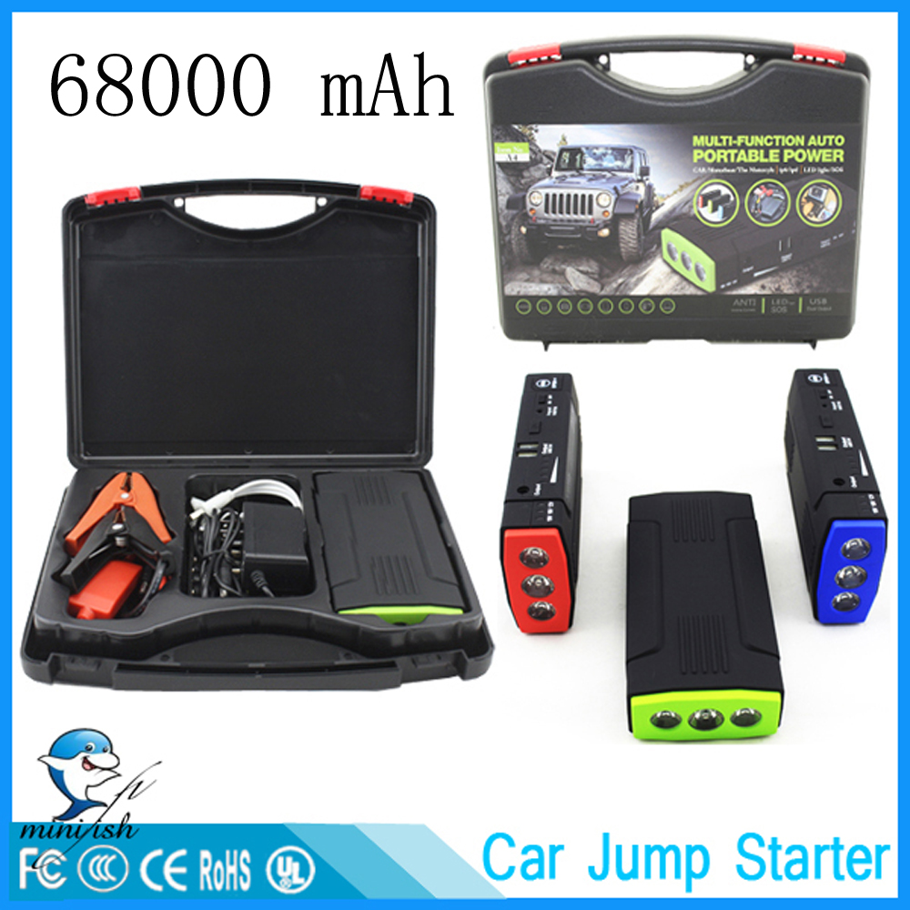 Mini Portable 68000mAh Car Battery Charger Starting Car Jump Starter Booster Power Bank For A 12V Auto Starting Device(China)