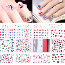Blueness 24Pcs/lot ManICure DIY UV Gel Polish Stickers On Nails Art Decorations Supplies Decals Nails Design High Quality JH537(China)