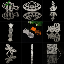 Boat Fish Flower Design Metal Cutting Dies Stencils for DIY Scrapbooking Stamp Album Decor Embossing DIY Paper Card LQW2823