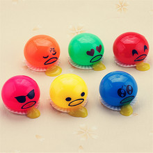 Fun Magic Eggs Toys Colorful Vomiting Egg Yolk Recycle Gags & Practical Jokes Emoji Face Release Stress Tricky Slime Toys(China)