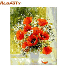 RUOPOTY Frameless Picture Flower DIY Painting By Numbers Modern Wall Art Picture Handpainted Oil Painting Home Decor 40x50cm Box(China)