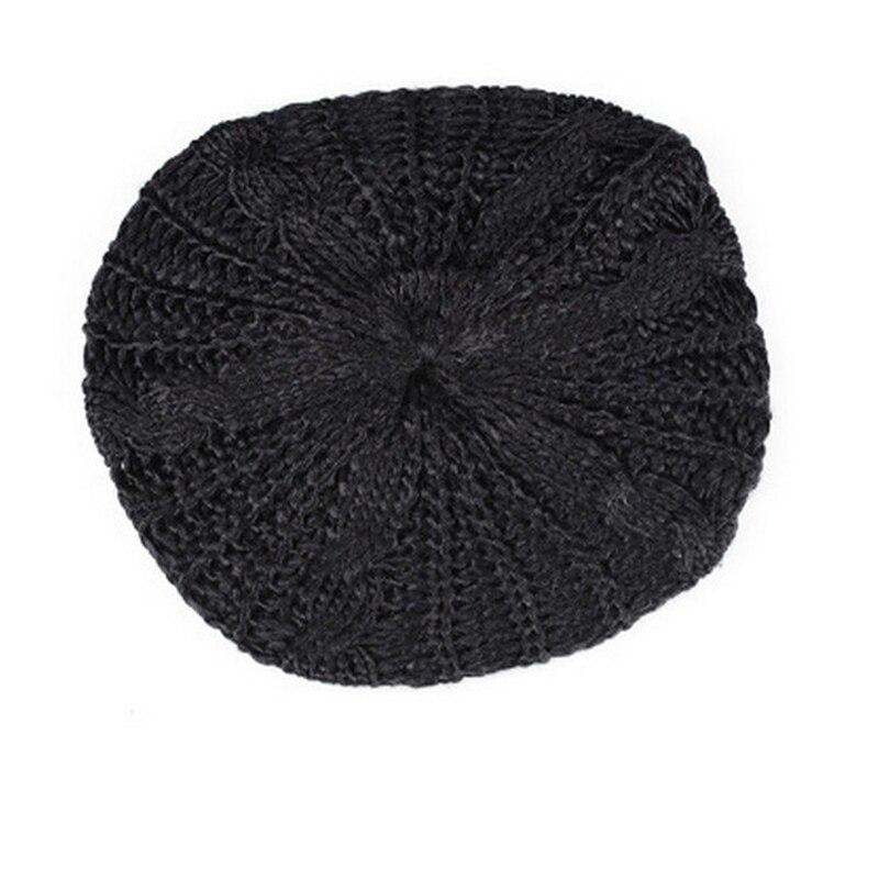 New Arrivals Womens Lady Beret Braided Baggy Beanie Crochet Warm Winter Hat Ski Cap Wool Knitted  For Female Fashion AccessoryÎäåæäà è àêñåññóàðû<br><br><br>Aliexpress