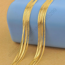 "JEXXI Fast Ship Stock 5PCS 20""  Yellow Gold Filled Necklaces Chain 1.8MM For Pendant With Lobster Clasps Wholesale Lots Findings"