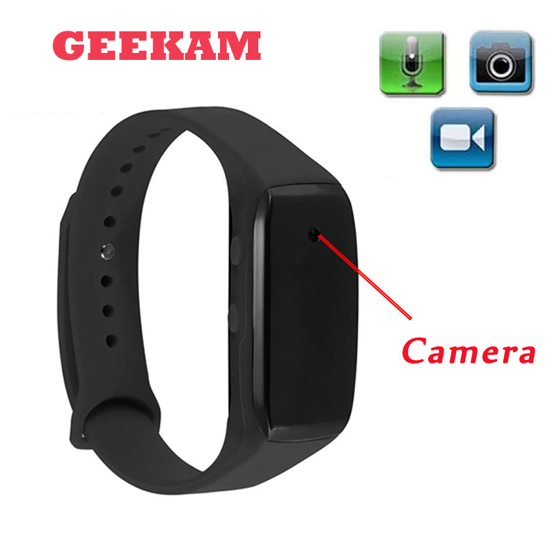 GEEKAM Easy Carry Bracelet Camera HD 1080P Life Video Recorder Wristband Mini Camcorders Support Micro SD Max 32GB Watch Camera(China)