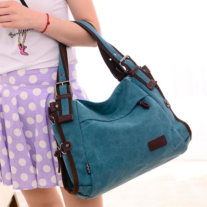 2017 Special Quality Canvas Bag Brand Women Handbag Shoulder Bags Messenger Bags Large Capacity Casual Blue Hobos Bolsa Feminina<br><br>Aliexpress