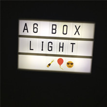 Newest Night Lamp Cinematic Light Box A6 Size 3 Line Battery And USB Cable Power Supply LED Cinema Lightbox Home Decor Lights