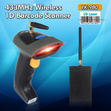Blueskysea Wireless 1D Barcode Reader 433MHz Laser 1D Code Bar Scanner USB Interface For POS System Inventory Portable Scanner