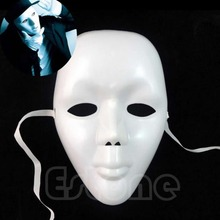 New 1pc Theatrical Mask Mardi Gras Masks Costume Face Costume Full Face Mask White Mask