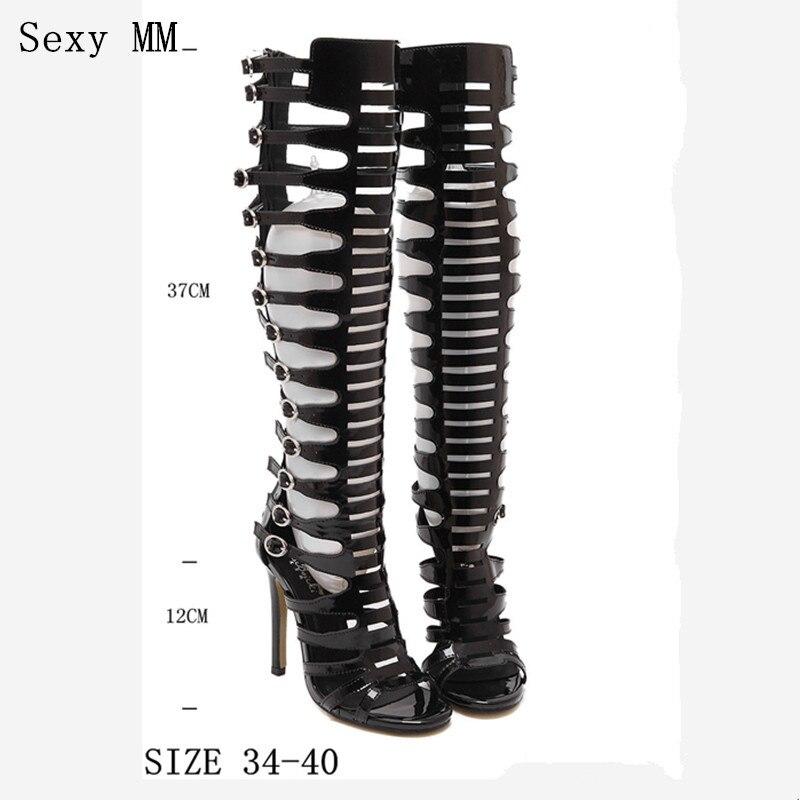 High Heels Women Gladiator Sandals Summer Long Boots Pumps Knee High Boots High Heel Sandals Shoes Woman<br>