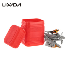 Lixada Camping Stove Foldable Gas Stove Stainless Steel MINI Outdoor Stove Furnace 3000W Cooking Picnic Split Stove With Box