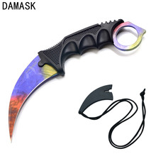 CS GO Karambit Tactical Tools Fighting Knife Camping Hunting Hiking Outdoor Activity Personal Knife Stainless Steel Multi Tools(China)