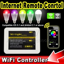 1pcs Mi Light 2.4G RF Wireless WIFI Remote Controller RGBW LED Lamp Bulb Downlight Dimmer Temperature for Apple App IOS Android
