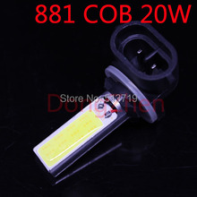 1X H27W/2 H27W H27 881 LED Bulbs Xenon DRL COB LED Car 12V Daytime Running Lights Auto Lamp Automobile Fog Light Warning