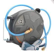 HD-810W 8x12mm 1M Electric Auto Rewind Water Hose Reel Automotive Air Hose Reel Automatic Retractable Reel(China)