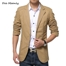 DEE MOONLY 2017 New Arrival Spring Fashion Stylish Slim Fit Men's Suit Jacket Casual Business Dress Blazers Men Suit Blazer