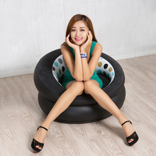 New Inflatable Sofa authentic inflatable sofa leather sofa cushion stool single flocking adult children leisure chair(China)