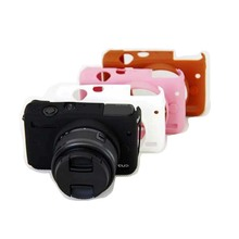 100% New Hot Silicone Camera Case Cover For Canon EOS M10 EOSM10 With Black/White/Brown/Pink Colors