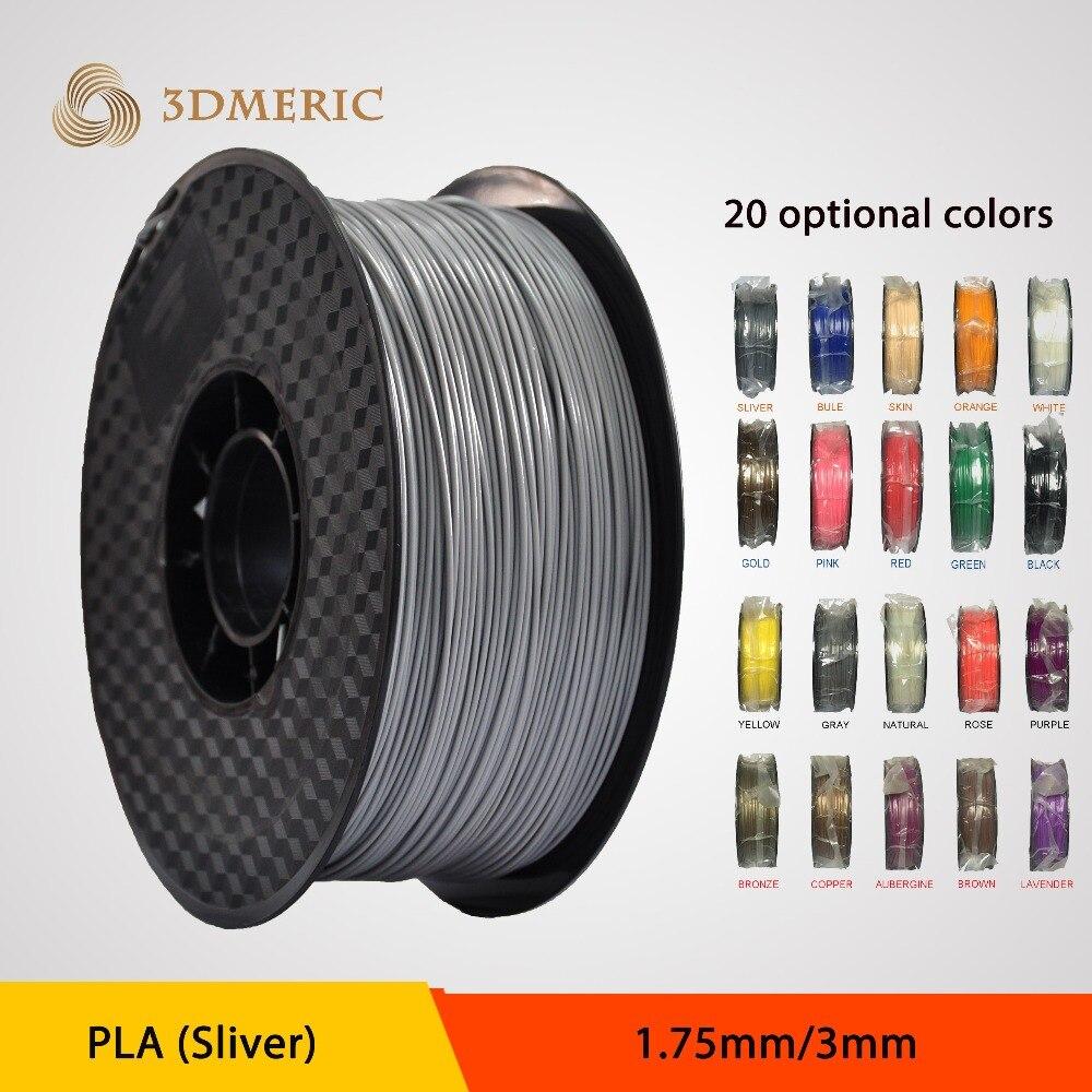 Sliver PLA 3D Print Filament 1.75MM 3D For 3D Printer Pen for 3D Printer Reprap Wanhao Makerbot<br><br>Aliexpress