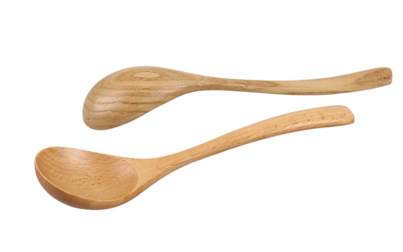 High Quality Wooden Spoon Large Soup Spoon Wood Dinner Cutlery Spoon Tablespoon Kitchen Ladle Wooden Cooking Utensils Tableware (9)