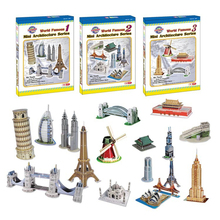 Hot Selling Magic 3D Puzzle Kids Educational Toys DIY Paper Puzzles Jigsaw For Children Adults House Castle Famous Building(China)