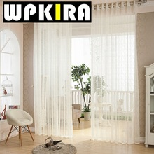 White Cream Waves Voile Curtains Decorative Net Tulle Curtains European Curtains Living Room Designs Modern Design Curtain 30