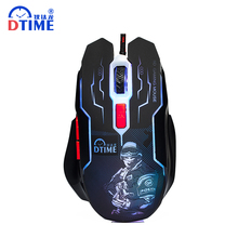 Brand 2400DPI USB Optical Lights Wired Computer Mouse Laptop deathadder Game Mause Gaming Gamer Mice x7 For PC LOL CS Dota(China)