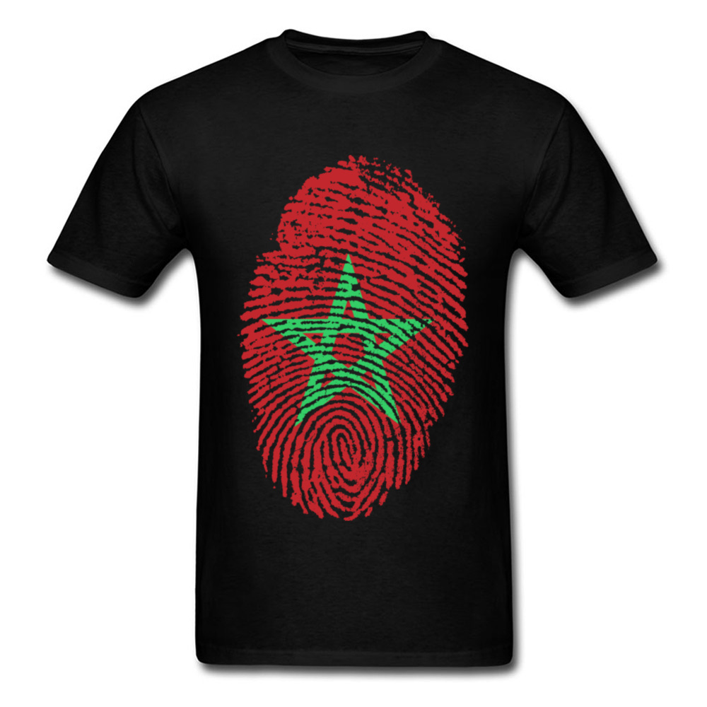 Morocco Flag Fingerprint_black