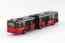 16cm SIKU Diecast Metal Gelenkbus Car Toy, Alloy Bus Models, Collectible Hinged Bus Models, Classic Bus Toys For Children