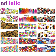 1 Sheet Water Transfer Nails Art Sticker Manicure Decor Tool Cover Nail Wrap Decal DIY Nail Foil Decoration(China)