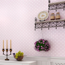 beibehang Modern shimmer small Polka dots non woven wallpapers Dolls House bedroom home decor for kids' room of wall paper(China)