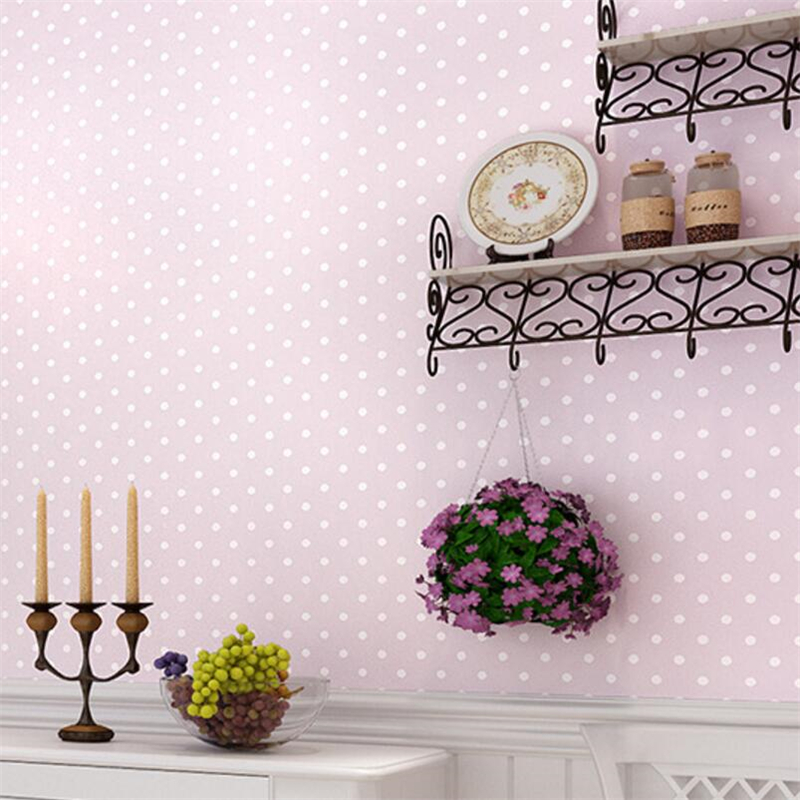 beibehang Modern shimmer small Polka dots non woven wallpapers Dolls House bedroom home decor for kids room of wall paper<br>