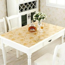 Waterproof and hot proof PVC soft glass tea table cloth TV counter plastic table cloth
