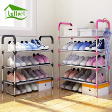 Hot Sale Shoe Rack Easy Assembled Plastic Multiple layers Shoes Shelf Storage Organizer Stand Holder adjustable shoe stand(China)