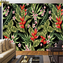beibehang Custom Photo Wallpapers Hand-painted Chrysanthemum Plant Flower Southeast Asian Style Cafe Restaurant Background Mural