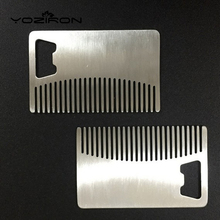 2017 High Quality Professional Men's mustache comb Anti Static Stainless Steel Comb Can Be Use As A Bottle Opener P004