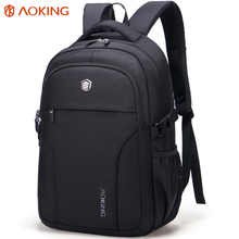 Aoking Brand High Quality Waterproof Nylon Trip Backpack Women Unisex Men's Class Slim Backpacks for Laptop Notebook Computer