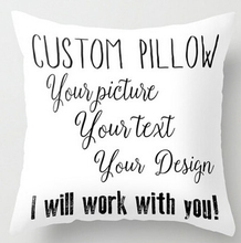 Custom Pillow Case Print with Your Pictures Texts Designs Photos Unique DIY Square Throw Pillowcase Free Shipping