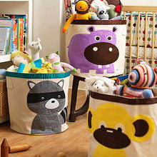 Sweet Large Kid Toys Storage Bag Barrel Bag Animal Sundries Clothes Bags Basket(China)