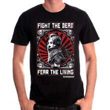 T Shirt Summer Cotton Gildan Comfort Soft O-Neck Short-Sleeve Shirt The Walking Dead Daryl Fight The Dead For Men