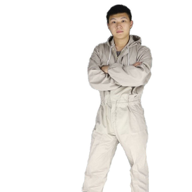 Safety clothing Mens Work clothing Protect Hooded coveralls working clothes Protective clothing paint dust shipyard quick drying<br>