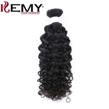 KEMY HAIR Pre-colored Human Hair Bundles 1Pcs Brazilian Remy Bohemian Curly Double Machine Weft Human Hair Weaves Extension(China)