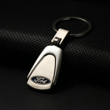 Silver Zinc Metal Keyring Key Chain Ring Keychain for Ford Chaveiro Llaveros Car Styling Accessories