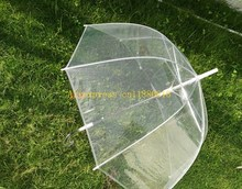 60pcs/lot Free Shipping Women Girl Transparent Clear Rain Umbrella Parasol Dome For Wedding Party Favor(China)