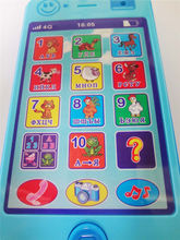 Russian language Kids Phone children's educational simulationp music mobile toy phone latest version of  Baby toy phone