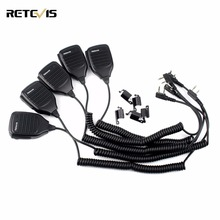 5pcs High Quality 2Pin PTT Speaker Microphone Walkie Talkie Mic Accessories For Kenwood Baofeng UV-5R BF-888s RT-5R H777 C9001A